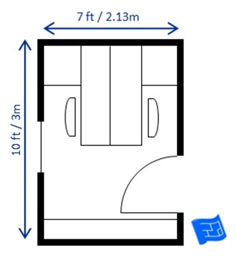office floor plan with 16 workstations #cubiclelayout